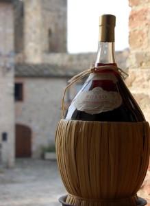 tuscan meal vino