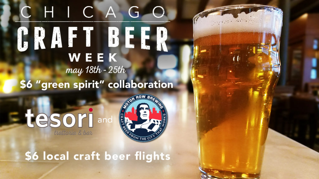 tesori chicago craft beer promotion